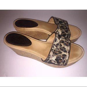 Coach Joanne Platform Cork Wedge Sandals Size 9.5B